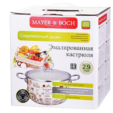 Кастрюля Mayer&Boch 2,9 л 18 см эмалированная 1,5 кг с крышкой 28843