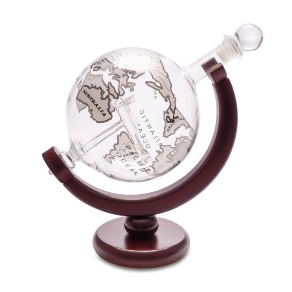 Декантер для виски с деревянной подставкой Globe 0.8л 27167 Balvi