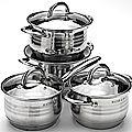 Набор посуды 12 предметов, 2+2,8+2,8+3,8+3,8+6,3л Mayer&Boch, 24042