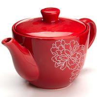 """Заварной чайник, с крышкой 900 мл """"Красный узор"""" Lorain, 25840"""