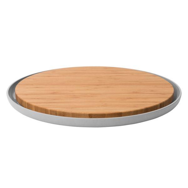 Доска разделочная BergHOFF Leo бамбуковая с тарелкой 3950058