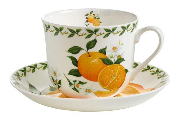 Чашка с блюдцем Апельсин в подарочной упаковке, MW637-PB8110