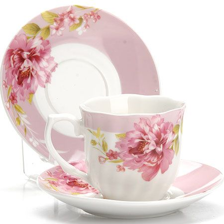 Кофейный набор Loraine чашка с блюдцем материал костяной фарфоровый 25961