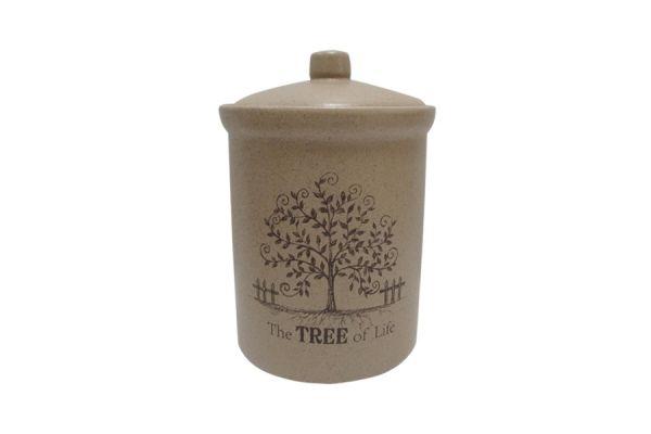 Банка для сыпучих продуктов Terracotta «Дерево жизни» маленькая TLY301-4-TL-AL