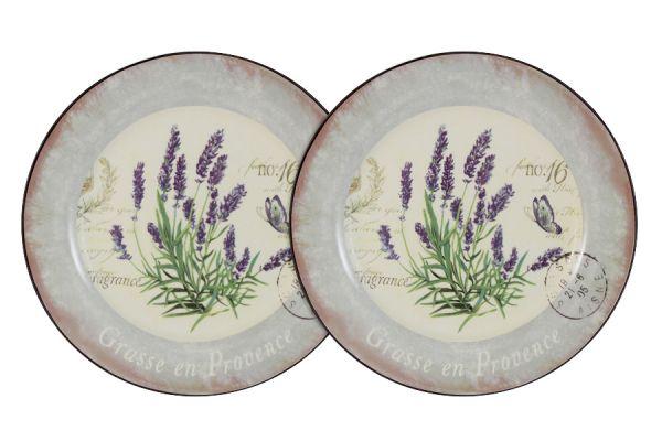 Набор десертных тарелок Anna Lafarg LF Ceramics «Лаванда» 2 шт AL-55E2258-L-LF