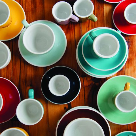 Кофейная пара LOVERAMICS 80 мл из костяного фарфора C087-49BTE/C087-50BTE