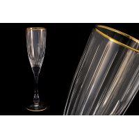 Набор бокалов для шампанского 6 шт Same «Пиза» золото SM2103/GAL