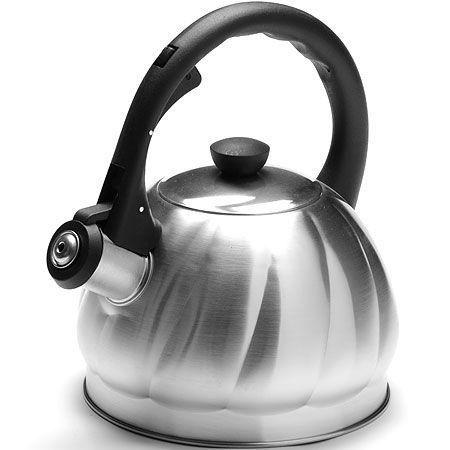 Чайник 2 л серебристый свистком нержавеющий корпус Mayer&Boch, 25896