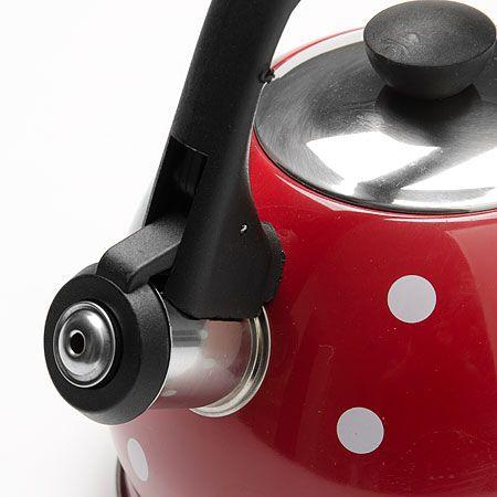 Чайник 2 л красного цвета свистком нержавеющий корпус Mayer&Boch, 25893
