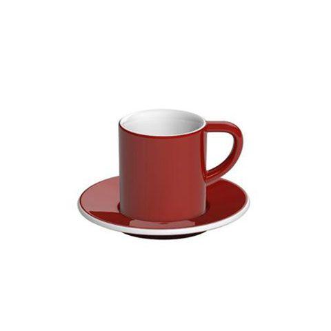 Кофейная пара LOVERAMICS 80 мл фарфоровая цвет красный C098-36BRE/C098-37BRE