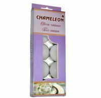 Свечи CHAMELEON чайные в гильзе 10 шт 1,5 см без запаха MNC00-12