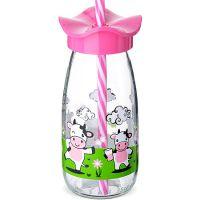 Бутылка для смузи 500 мл розовая, стекло, Mayer&Boch, 80518-1
