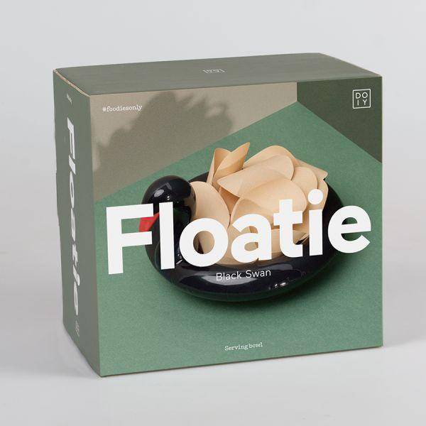 Миска сервировочная Floatie black swan керамическая DYFLOSBSW