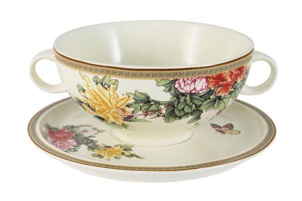 Суповая чашка на блюдце Японский сад, IMB0304-1730AL