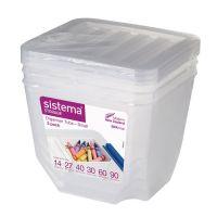Набор органайзеров SISTEMA 3 шт по 1,3 л 70013