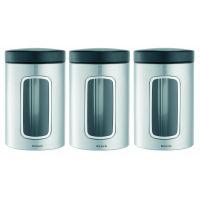 Набор контейнеров Brabantia с окном 3 предмета 1,4 л 335341