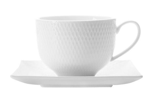 Чашка с квадратным блюдцем Даймонд без индивидуальной упаковки, MW688-JX260482