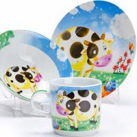 Набор столовой посуды Loraine «Корова» детский 3 предмета 27329