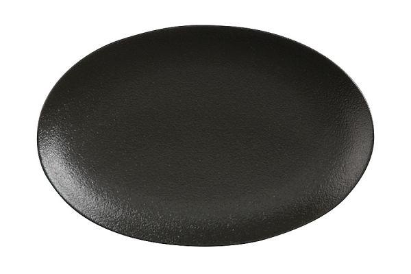 Тарелка овальная малая (чёрная) Икра без индивидуальной упаковки, MW602-AX0204