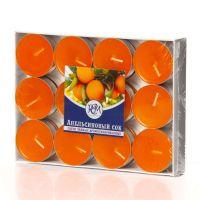 Свечи чайные Апельсиновый сок 24 шт