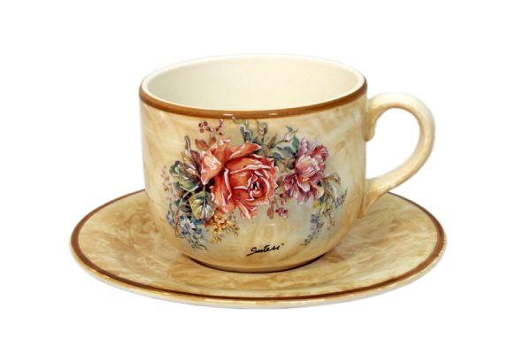 Чашка с блюдцем Элианто, LCS933_T_P-EL-AL