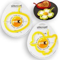 Набор для яичницы 2 штуки, цвет желтый, SILIKOMART