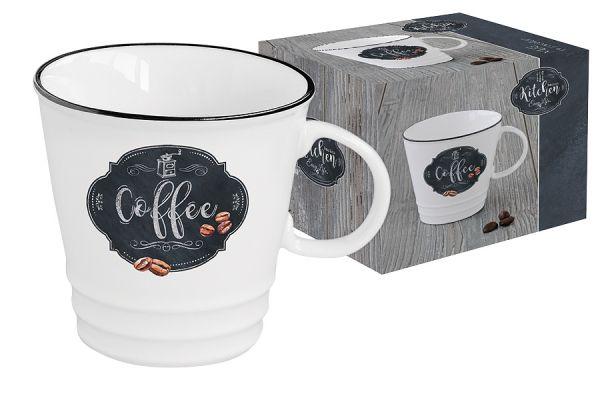 Кружка Easy Life (R2S) Кухня в стиле Ретро рисунок «кофе» в подарочной упаковке EL-R1603_KIBC