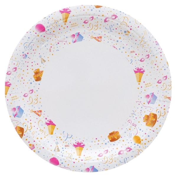 Тарелка PACLAN PARTY KIDS 12шт бумажная цветная 230 мм (430180)