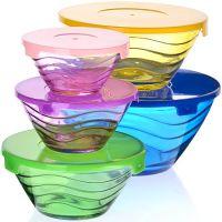 Набор мисок 10 предметов (9+10,5+12,5+14+17), стекло, Mayer&Boch, 27485