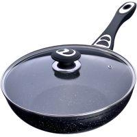 Сковорода ВОК 28 см с крышкой Mayer&Boch с покрытием из мраморной крошки, 27953