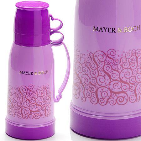 Термос 1 л со стеклянной колбой + 2 кружки Mayer&Boch, 26105