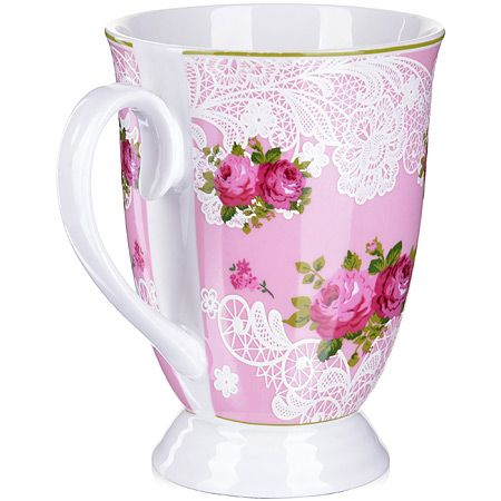 Кружка Loraine «Цветы» 330 мл фарфоровая 250 г 27881