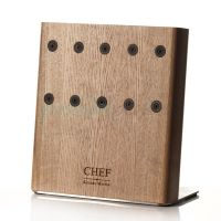 CH-003/NAT Подставка с магнитными держателями для 5-ти ножей (золотая) Chef