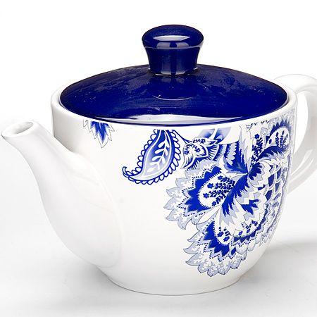 Заварочный чайник Loraine «Гжель» 920 мл с крышкой из керамики 24824