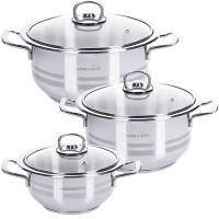 Набор посуды из 6 предметов со стеклянной крышкой 2+2,5+3 л Mayer&Boch, 80270