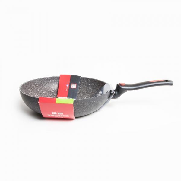 Сковорода ВОК 28 см MONETA FACILE со съемной ручкой и индукционным дном