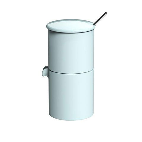 Набор LOVERAMICS сахарница, молочник и ложечка цвет белый C098-54ABL