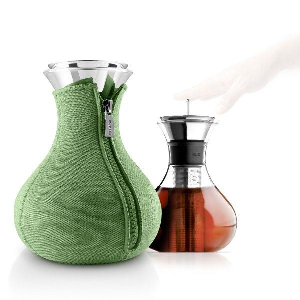 Чайник заварочный Tea maker в неопреновом текстурном чехле, 1 л , светло-зелёный 567495_es