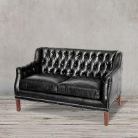 Диван ROOMERS 80x135x80 см цвет черный 8829-2D/black #76