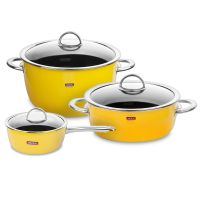 Набор посуды KOCHSTAR из 3-х предметов, цвет желтый NEO Yellow, YELLOW-1