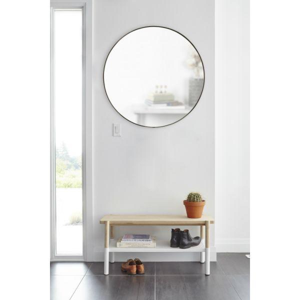 Зеркало настенное HUBBA D86 см титан 1012715-378