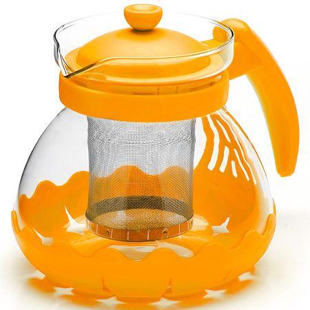 Заварочный чайник Mayer&Boch из стекла 700 мл с фильтром желтого цвета 26173-2