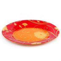 Тарелка из закаленного стекла SERENADE, диаметр 260 мм (оранжевая)