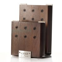Подставка для 6-ти ножей Chef с магнитными держателями цвет коричневый CH-001/BR