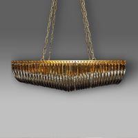 Люстра ROOMERS 32 x100x40 см KG0522P-8(amber)matt bras