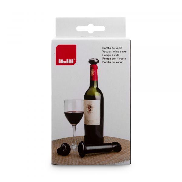 Набор для хранения вина помпа вакуумная + 2 пробки IBILI Barware, 781100