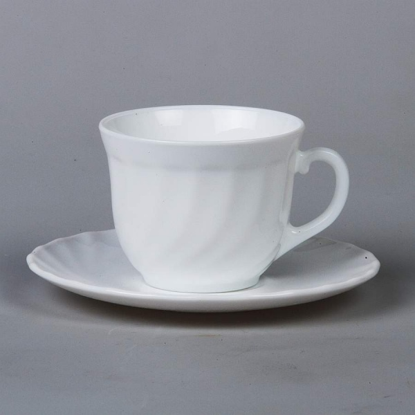Набор чайный на 6 персон TRIANON, 12 предметов, объем чашки 220 мл (белый)
