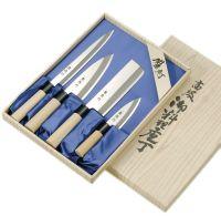 """Набор ножей Tojiro """" Ryuutoku-saku"""" (Мини Дэба 105 мм Дэба 150 мм Накири 160 мм Янагиба 210 мм) FC-125"""