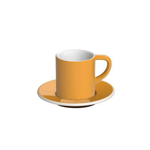 Кофейная пара LOVERAMICS 80 мл фарфоровая цвет желтый C098-38BYE/C098-39BYE
