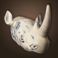 Декор ROOMERS «Голова носорога» 23x30x23 см 4430-cr